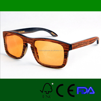 yellow lens square frame horn rimmed sunglass wholesale in china LS4010-C3