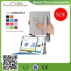 PU Leather Case for Microsoft Surface Pro 3, Stand Flip Protective Cover for Microsoft Surface Pro 3