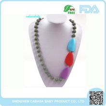 Non-toxic,no taste ,Promotion Silicone Teething Beads Necklace