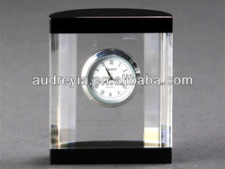 table decoration crystal clock wholesale