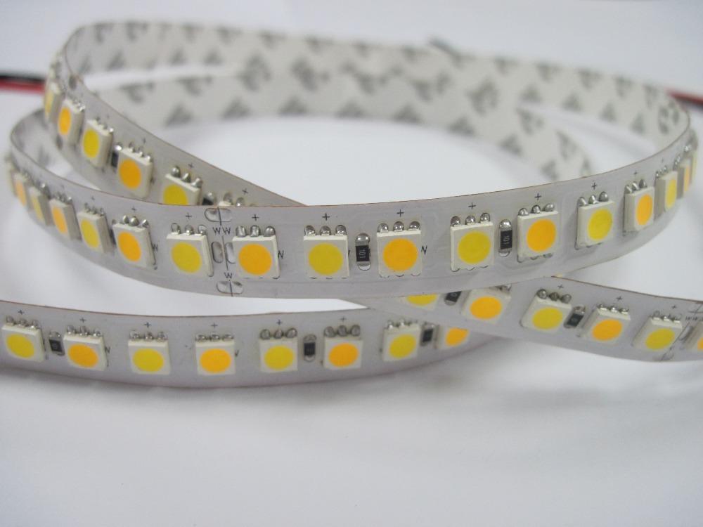 CW WW LED 테이프, 따뜻한 화이트 + 차가운 백색, 60 개 5050 led가, 2 ...
