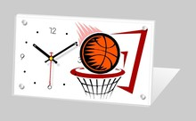 Customized unique basketball souvenir items desk clock