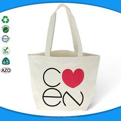 reusable organic cotton canvas tote bag recycled shopping bag