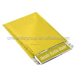 """wd2005 Metallic Glamour Bubble Mailers Padded Shipping Envelope Bag Self Seal Gold 13.75"""" x 11"""" 100 / Case"""