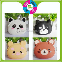 Multi-Functional Bowknot Design Rubber Cute Colorful Silicone Wallet for Coins