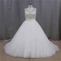 Rhinestone Beaded red and white plus size wedding gowns 2013