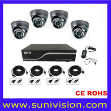 Security CCTV 4 Cameras Set system with H264 4ch DVR Kits