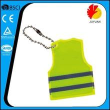 Hi visibility Custom safety PVC promotional gifts reflective keychain