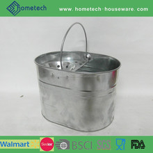 Household galvanized cleaning mop bucket