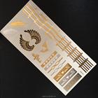 Metálico de flash tatuagem folha de ouro tatuagens temporárias etiqueta