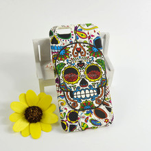 Soft TPU Silicon Cases for iPhone 6 Skull Painting Pattern 3D Cell Phone Cases