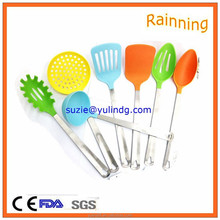 Professional metal handle nylon kitchen utensils for cooking