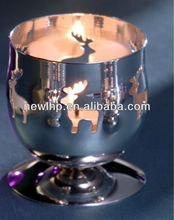 Comeniceft silver or gold footed tea candle light