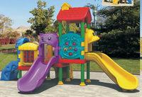 Contemporary/antique/amusement park outdoor slide swing set
