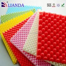 Customized insulation foam and sponge,high density egg crate shaped pu sponge soundproof sponge,air filter pu foam
