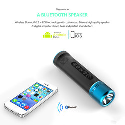 Mini flashlight speaker Bluetooth Portable falshlight Wireless Pulse Loudspeaker