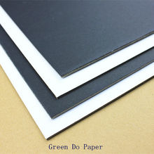 Thick paper board black color one side 1.8mm