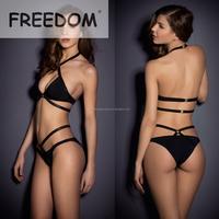 Black Bandage Halter Sex Girls Bikini