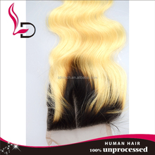 artificial pussy hair weave brazilian body wave closure blonde hair bundles with lace closure
