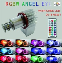 The World First 10W RGBW Angel eye RGB Angel eye for BMW E60 E61 E90 E91 E92 E87 Angel Eye with RF wireless control