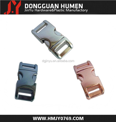 Jinyu side release buckle for handbag/metal release buckle/metal clasp buckle