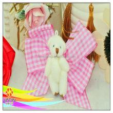 Belle ours motif avec belle rose à carreaux ruban épingles à cheveux pour cheveux décoration