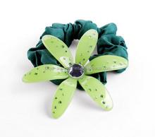 Luxury crystal flower decorative elastic hair band for women