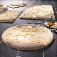 Latest Fashion Wholesale bathroom rug set Non Slip Latex backing Washable Rug