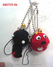 voodoo doll keychain and cell ornament for adult fashion accessory and branded market