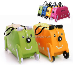 BUBULE 2015 kids luggage on wheels and ride on cheap kids luggage