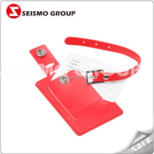 china wholesale leather luggage tags pvc soft luggage tag