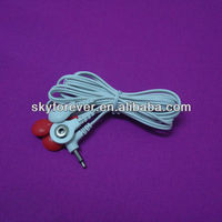 new durable snap tens lead wire for massager machine