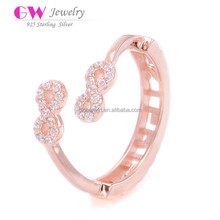 Infinite Love Ring Gold Plated 925 Silver Rings For Women