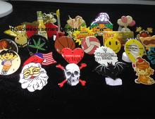 2015 halloween hot sale custom made led tinplate badge,led button badge