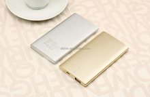Power bank with luxurious golden, elegant silver and low profile black more customized colors for choice