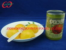 Canned peaches brands supplier, canned yellow peach halves in light syrup