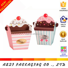 2015 custom paper cheap mini cupcake boxes