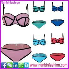 Shenzhen triangl swimwear neoprene bikinis for sexy girl
