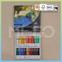 18 colours acrylic paint set 12ml each color acrylic color paint