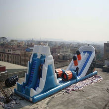 children inflatable slide , NO.327 giant inflatable toys octopus cross inflatable slide toys
