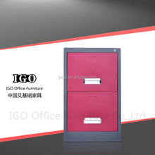 IGO-001-2D Office furniture 2 drawer file cabinet Made in China Metal drawing cabinet