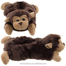 Plush Monkey slippers for holiday gift stuffed animal slippers toys plush slipper pets toys