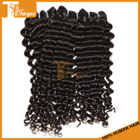 Grade 5A Plus Hot Selling Online Shopping Hair Weaving 3pcs/Set 16 18 20 inches Natural Black Kinky Curly Indian Human Hair Weft