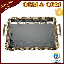 hot sale stainless steel serving trays/glass holder tray/tray set for Middle East T170