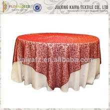 Polyester blending soft organza wedding table overlay