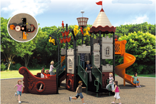 Kids plastic adventure playground occasion outdoor playground facilities JY-5037B