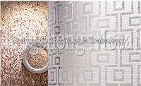 Bisazza Style Art Floor Glass Mosaic Decoration Flower Pattern Tiles Pure Color Glass Mosaic (KJ14)