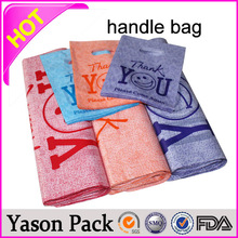 YASON punch out plastic handle bagspaper bag & plain brown kraft paper bags with twisted handles and custom logo designcheap pe