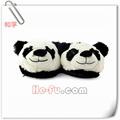 Animal de la felpa de la novedad zapatillas- panda