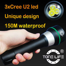 Tonelife TL2300 Underwater Flashlight/Scuba Gear/Underwater Lights for Boats 3000lumens Big Blue Dive Lights